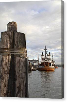 View From The Pilings Canvas Print by Suzy Piatt