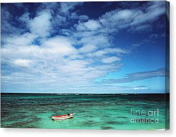 Boat And Sea Canvas Print by Thomas R Fletcher