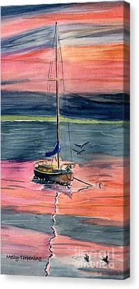 Skaneateles Lake Canvas Print - Boat At Skaneateles Lake  by Melly Terpening