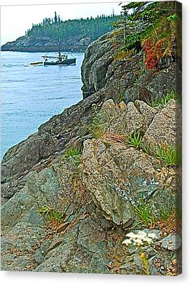 Boat By East Quoddy Bay On Campobello Island-nb Canvas Print