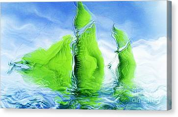 Surrealistic Canvas Print - Sea Boat Collections - Naufrage - F11b03 by Variance Collections