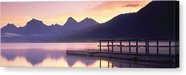 Lake Mcdonald Canvas Print - Boat Dock At Lake Mcdonald, Glacier by Panoramic Images