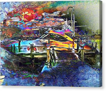 Bulls Canvas Print - Boat Dreams by Claire Bull