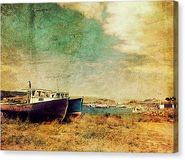 Boat Dreams On A Hill Canvas Print by Tracy Munson