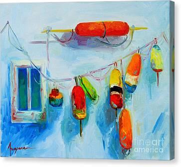 Colorful Buoys 2 Canvas Print by Patricia Awapara