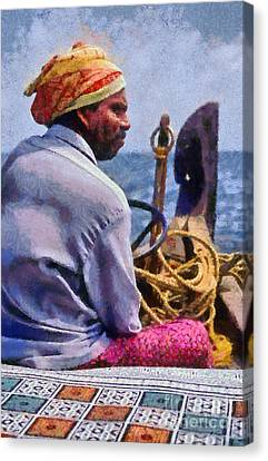 Boat Guide In India Canvas Print