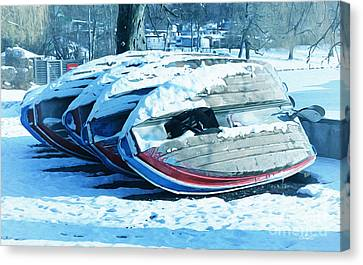 Boat Hire On Holiday Canvas Print by Jutta Maria Pusl
