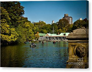 Boat House Central Park New York Canvas Print by Amy Cicconi