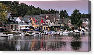 Boat House Row 2 Canvas Print
