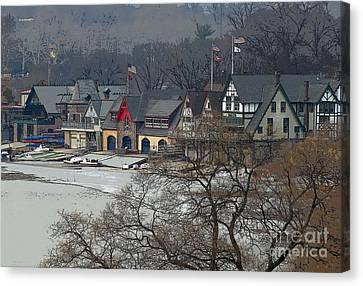 Philadelphia's Boat House Row  Canvas Print by Cindy Manero