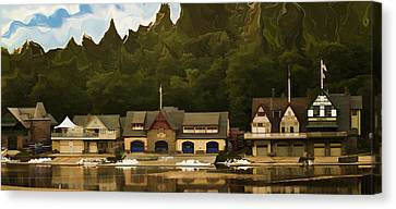 Boat House Row Canvas Print by Trish Tritz
