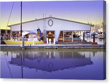 Canvas Print featuring the photograph Boat House by Sonya Lang