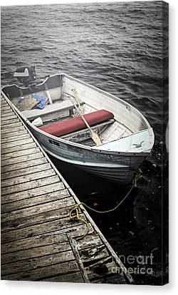 Boat In Fog Canvas Print