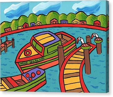 Boat In The Bayou - Cedar Key Canvas Print