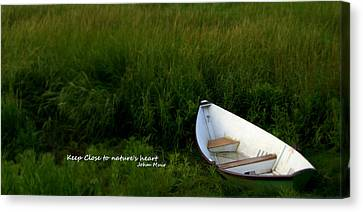 Canvas Print featuring the photograph Boat In The Marsh by Caroline Stella