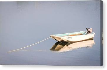 Canvas Print featuring the photograph Boat Mooring by Dawn Romine