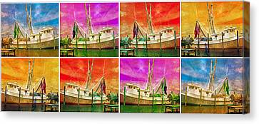 Boat Of A Different Color Canvas Print by Betsy Knapp