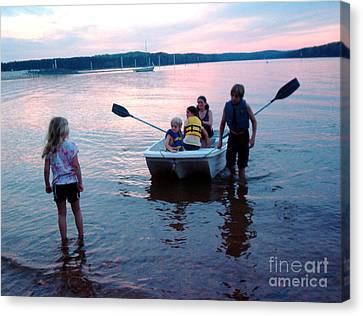 Boat Play Canvas Print by Gretchen Allen