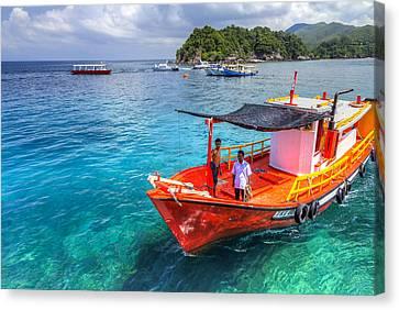 Redang Canvas Print - Boat Ride by Mario Legaspi