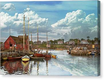 Version 1 Canvas Print - Boat - Rockport Mass - Motif Number One - 1906 by Mike Savad