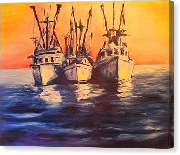 Boat Series 1 Second Edition Canvas Print by Ruben Barbosa