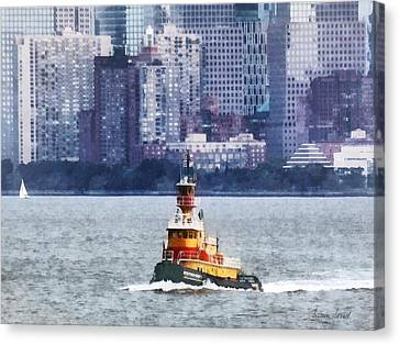 Boat - Tugboat By Manhattan Skyline Canvas Print