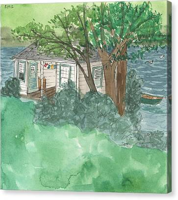 Boathouse At Ananda Canvas Print by Jennifer Mazzucco