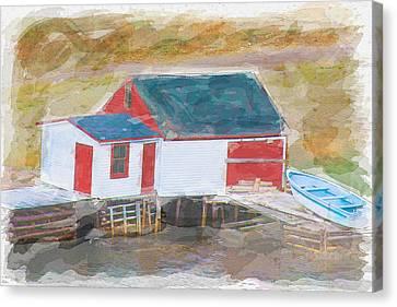 Newfoundland Canvas Print - Boathouse by Edser Thomas