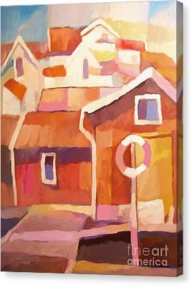 Boathouse Canvas Print by Lutz Baar