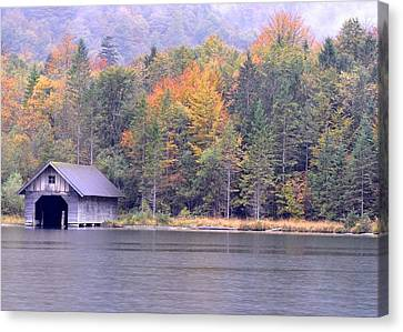 Boathouse On The Koenigsee Canvas Print