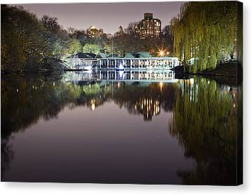 Boathouse Reflection Canvas Print