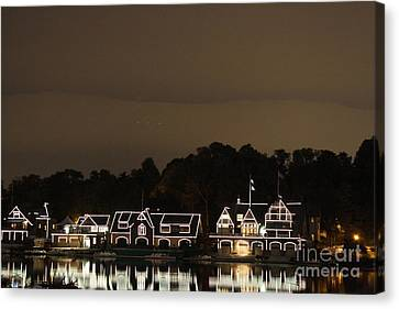 Boathouse Row Canvas Print by Christopher Woods