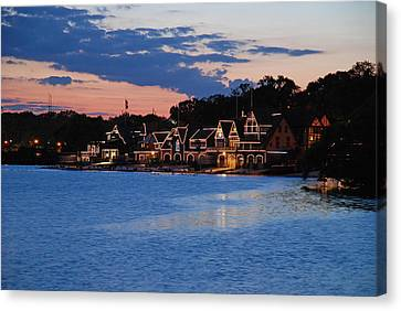 Boathouse Row Dusk Canvas Print