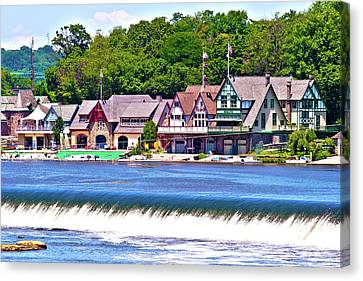Boathouse Row - Hdr Canvas Print