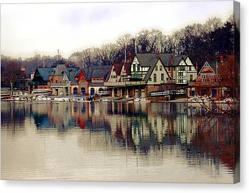 River Canvas Print - Boathouse Row Philadelphia by Tom Gari Gallery-Three-Photography