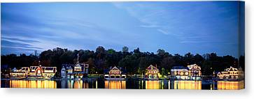 Boathouse Row Philadelphia Pennsylvania Canvas Print by Panoramic Images