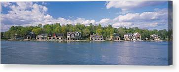 Boathouses Near The River, Schuylkill Canvas Print