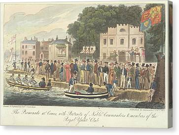 Boating At Cowes Canvas Print by British Library