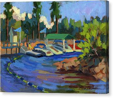 Boating At Lake Arrowhead Canvas Print by Diane McClary
