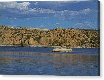 Boating At The Dells Canvas Print