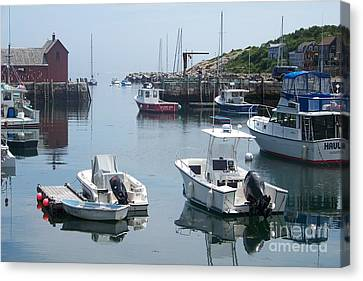 Canvas Print featuring the photograph Boats On The Water by Eunice Miller