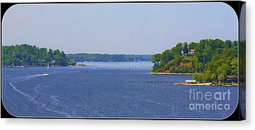 Boating On The Severn River Canvas Print by Patti Whitten