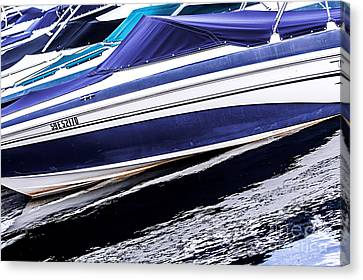 Boats And Reflections Canvas Print by Elena Elisseeva