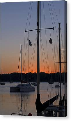 Boats At Beaufort Canvas Print by Bob Pardue
