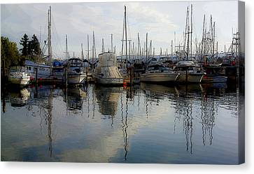 Canvas Print featuring the photograph Boats At Marina On Liberty Bay by Greg Reed