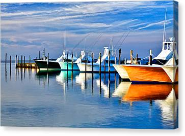 Boats At Oregon Inlet Outer Banks II Canvas Print