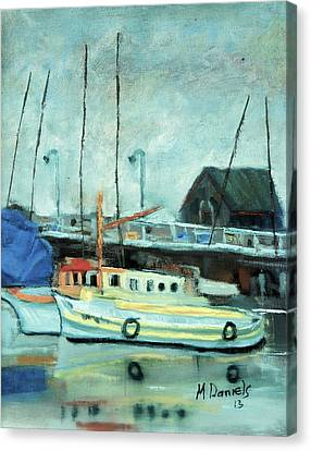 Boats At Provincetown Ma Canvas Print by Michael Daniels