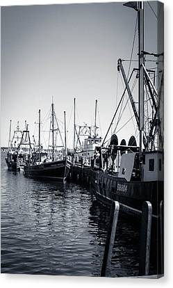 Boats At The Pier  Canvas Print