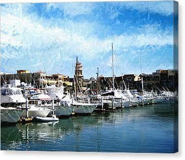 Boats Cabo San Lucas Canvas Print by Ann Powell