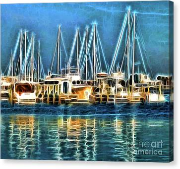 Canvas Print featuring the photograph Boats by Clare VanderVeen